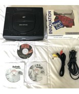 ☆ Sega Saturn (Model 2) Black Console System Bundle & 3 Games Lot Tested... - $120.00