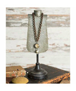 Vintage Style AGNES JEWELRY DISPLAY Necklace Pendant Holder Rustic Metal  - £22.97 GBP