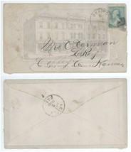 1888 Bradford PA Le Roy Kansas St James Hotel Advertising Cover! LeRoy KS - $14.84