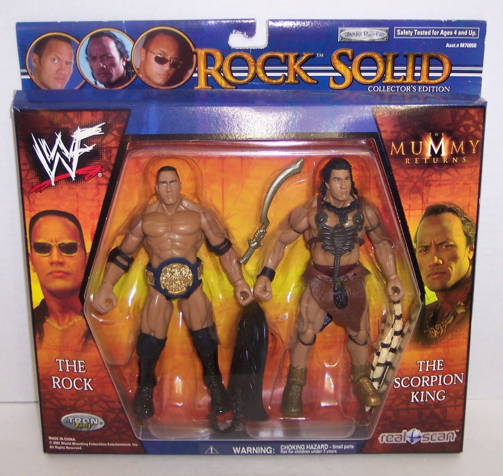 "New! Rock Solid : ""Rock / Scorpion King"" Action Figure Set : Mummy Returns [358]"