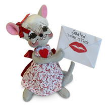 Annalee Dolls 6in 2018 Valentine Sealed with a Kiss Mouse Plush New with... - $14.25