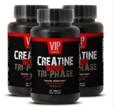 creatine tablets - Creatine Tri-Phase 5000mg - natural energy boost 3B - $33.62