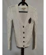 Twenty-One size S/P women's cardigan sweater off-white color LS button u... - $12.16