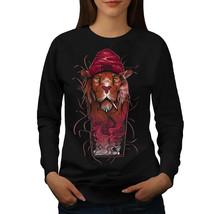 Smoke Tiger Art Fashion Jumper  Women Sweatshirt - $18.99
