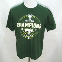 Portland Timbers Mens Medium Green Short Sleeve 2015 Mls Champion T-Shirt Soccer - $12.95