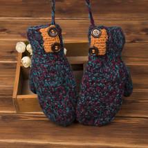 Men And Women Knitted Gloves Winter Solid Soft Warm Cartoon Pattern Mittens - $20.90
