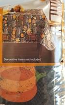 Fall Thanksgiving Vinyl Tablecloth Rectangular 60x84 Grateful Leaves Bla... - $12.99