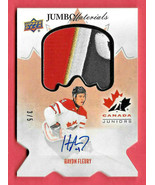 2016-17 Haydn Fleury Upper Deck Team Canada Juniors Auto Jumbo Logo Patc... - $71.24