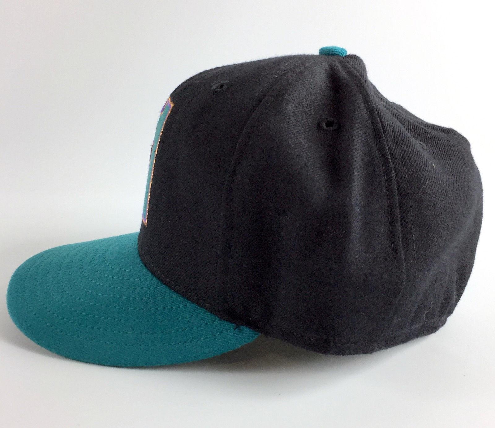 Arizona Diamondbacks Fitted Baseball Hat New Era 5950 Model Teal - 7 3/8 Vintage