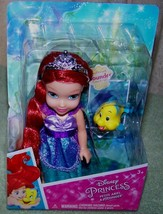 "My First Disney Petite Ariel 6"" Doll &  Pet Flounder New - $16.50"