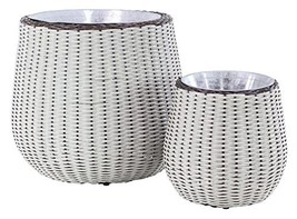 Deco 79 99872 Planter, Metallic Gray - $188.72
