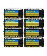 "Panasonic CR123A Lithium 3V Photo Lithium Batteries, 0.67"" Dia x 1.36"" H... - $16.69"