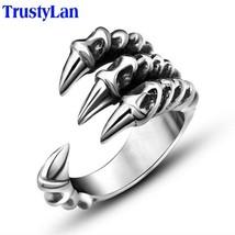 TrustyLan Size 7-12 Punk Rock Stainless Steel Mens Rings Man Gothic Bike... - $14.97