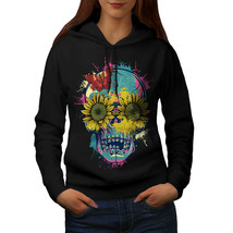 Sun Flower Sugar Skull Sweatshirt Hoody Festival Women Hoodie - $21.99+