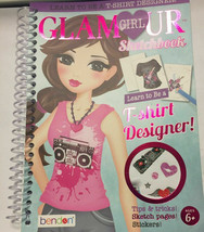 Learn To Be A T-Shirt Designer! Glamour Girl Sketchbook By Bendon/Hinkle... - $18.59