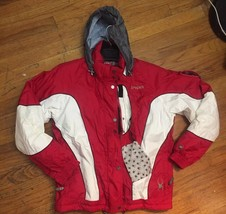 Boys Spyder XT Red White Hooded Winter Ski Snowboard Jacket Coat Youth S... - $56.06