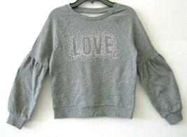 Epic Thread Big Girl Sweatshirt Top NWT Stud Grey Long Sleeve Size M KD648 - $28.86