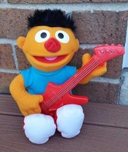 Sesame Street Ernie Guitar Let's Rock Music Toy Plush Doll Hasbro - $14.00