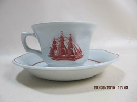 Wedgwood Georgetown Collection Flying Cloud Tea Coffee Cup & Saucer Set - $9.41