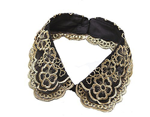 Retro Elegant Lace Beads Detachable False Collar Stand Collar-Double Collar
