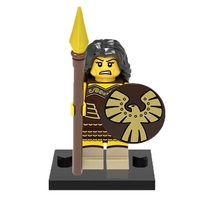 1 Pcs Medieval Military Female Warrior With Equipment Fit Lego Block Min... - $6.99