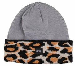 Dope Couture Grey Leopard Beanie