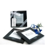 25 Memories Forever Black Glass Photo Coaster Bridal Wedding Favors Gift... - €75,43 EUR