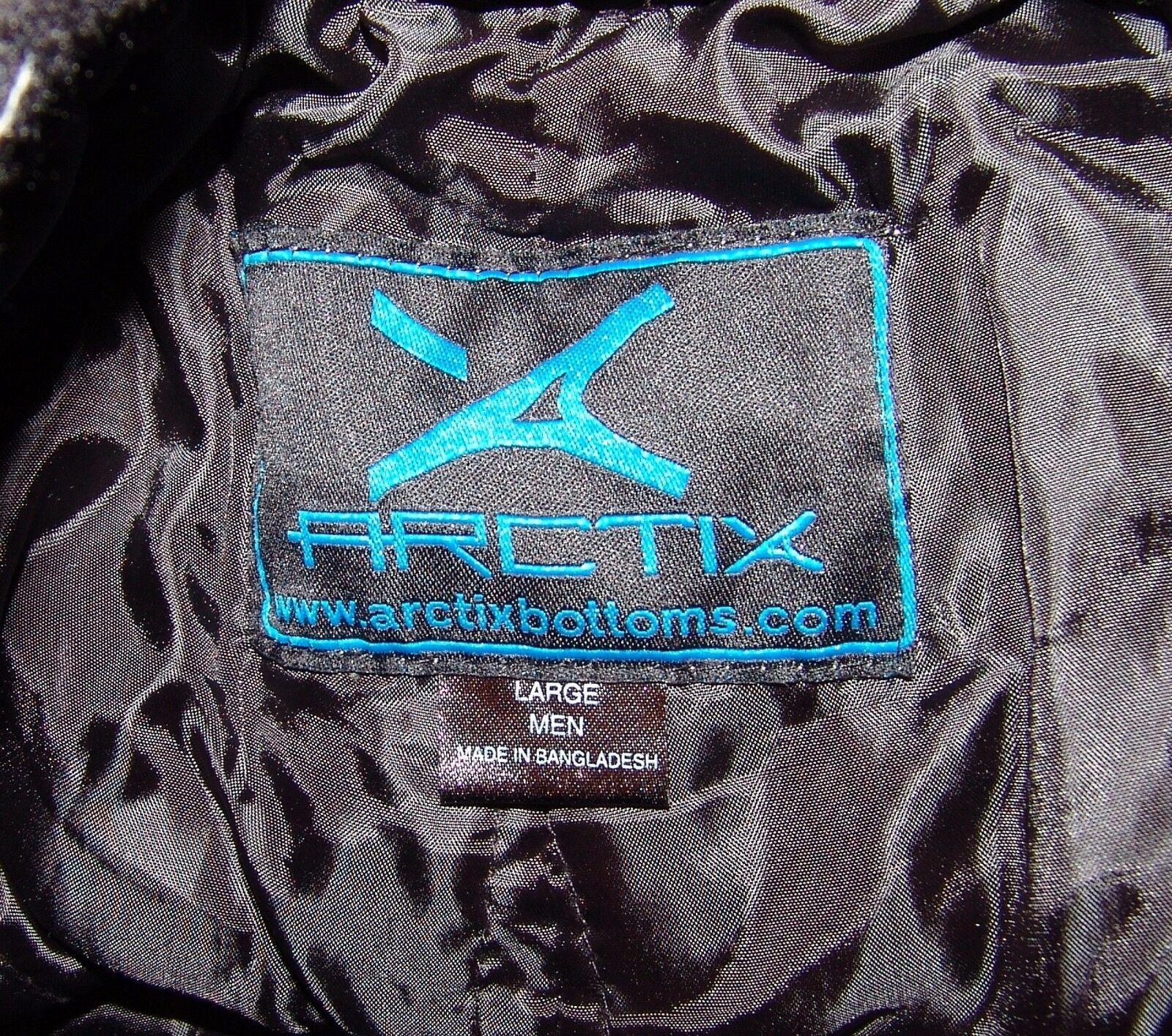 Arctix Black Ski Snow Pants L Mens Black Cargo Winter