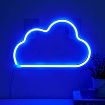 Cloud Neon Light Signs - Blue LED Cloud Neon Sign Wall Decor Neon Lamp Battery/U
