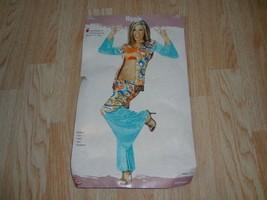 Women's Hippie Halloween Costume S/M Shirt Pants Vest - $15.79