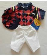 NEW Build A Bear Clothes Jockey Uniform 4 pc Set - Shirt, Pants, Hat, Ar... - $26.99