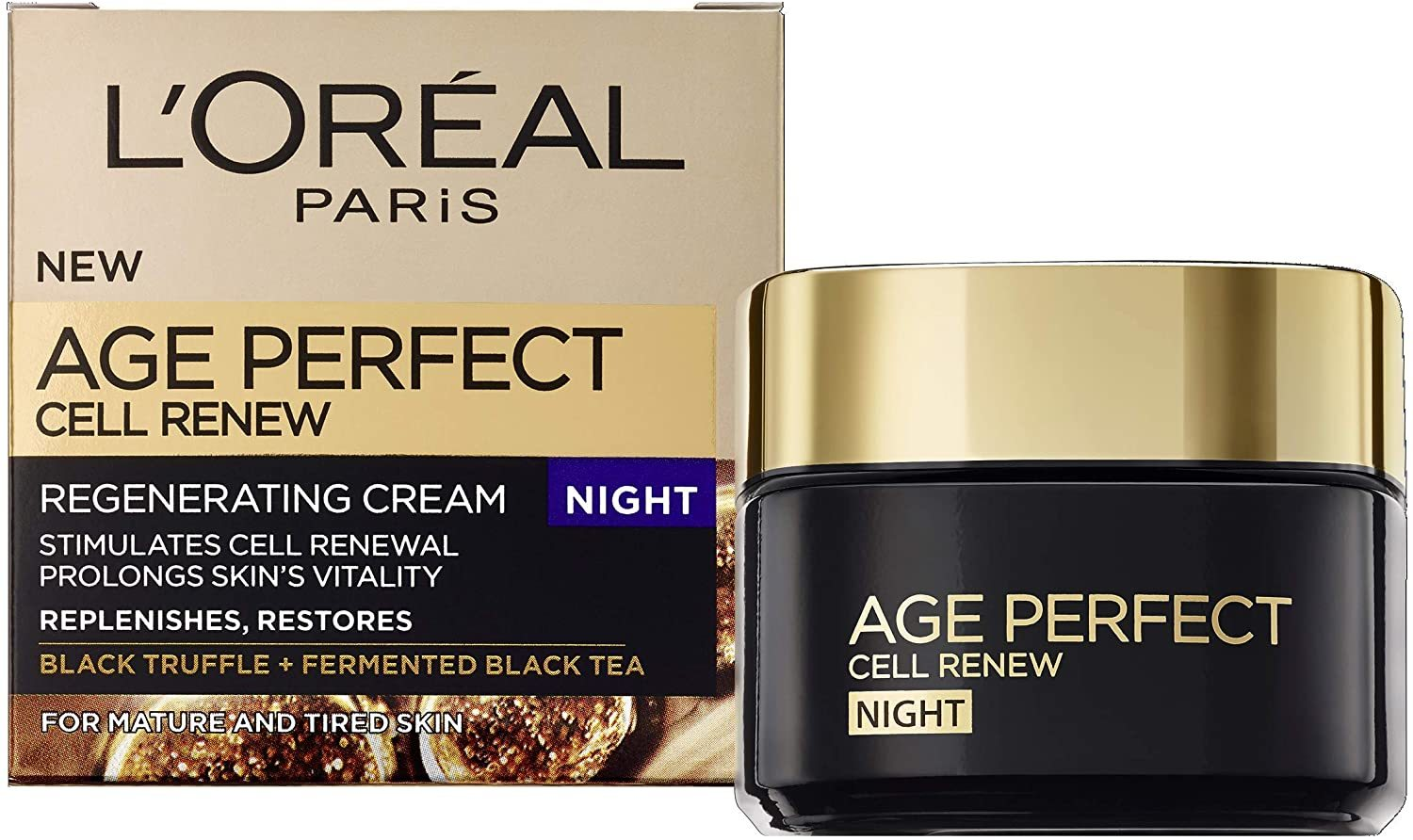 Primary image for L'Oreal Paris Age Perfect Cell Renew Night Cream, 50 ml [New&Sealed]