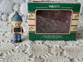 Enesco Treasury Top of The Class 1989 Christmas Ornament - $8.72