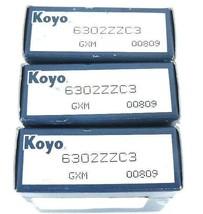 LOT OF 3 NIB KOYO 6302ZZC3 BALL BEARINGS 15X42X13MM DOUBLE SHIELDED