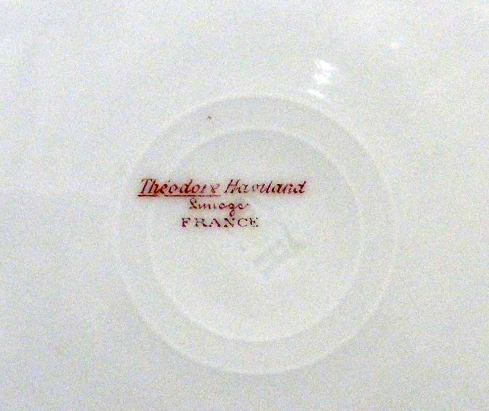 """Vintage Belfort Schieger Theodore Haviland Limoges France 8-1/2"""" Plate"""