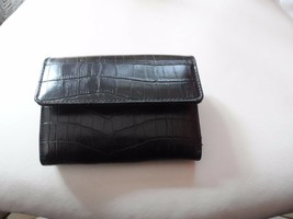 small black clutch wallet with textured finish - $9.75