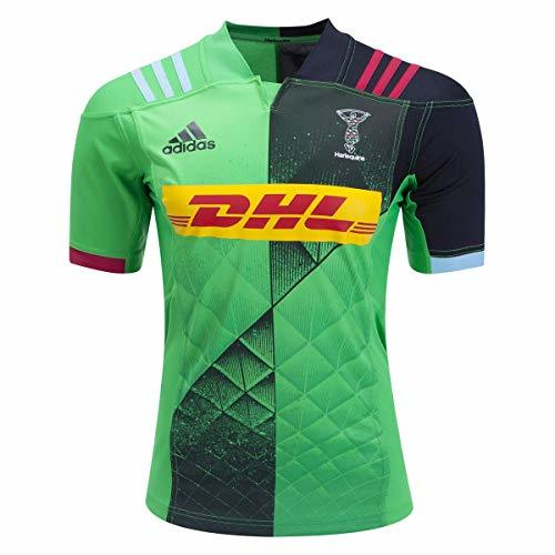 adidas Harlequins Away Rugby Jersey, Large Green