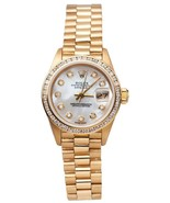 Rolex presidential Lady watch mop bezel president yellow gold     GB11747 - $6,788.00