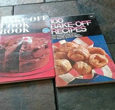 2 PILLSBURY 100 BAKE ~ OFF RECIPE SOFT COVER COOKBOOKS - $4.95