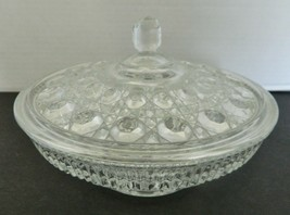 Indiana Glass Windsor Royal Brighton Pattern Covered Candy Dish Clear Cr... - $19.68