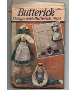1991/Butterick Pattern #5825/Bunny & Bear Draft Stoppers/UNCUT - $3.50