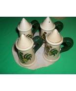 Metlox Poppytrail Vernon China 2 Sets Salt & Pepper Provincial Red Green... - $34.65