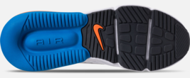 Nike Air Max 270 Futura White Blue Total Orange AO1569-100 Mens Shoes image 6