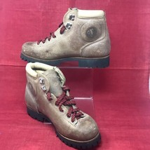 VTG Vasque Women 7.5 Split Cowhide Hiking Mountaineering Boots ITALY Made  - $39.55