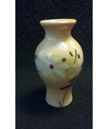 Antique Handpainted Porcelain / Ceramic Pinkish Vase.. .1900's.. (4250.26) - $15.00