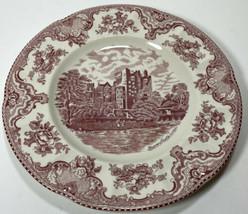 Johnson Cros Old Britain Castles Salad Plate Pink Blarney Castle - $15.00
