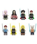 8pcs Demon Slayer Series Tanjiro Kamado Mitsuri Kanroji Nezuko Kamado Mi... - $16.99