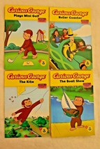 Lot of 4 Curious George Level 1 Readers Scholastic Books Childrens Homes... - £9.75 GBP