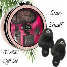 New Victoria's Secret Tease Gift Set + Small Black Faux Fur Slipper - $95.00