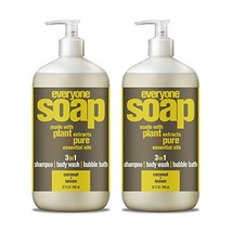 Everyone 3-in-1 soap, Coconut plus Lemon, 32 oz, 2 Count Coconut + Lemon - $22.98